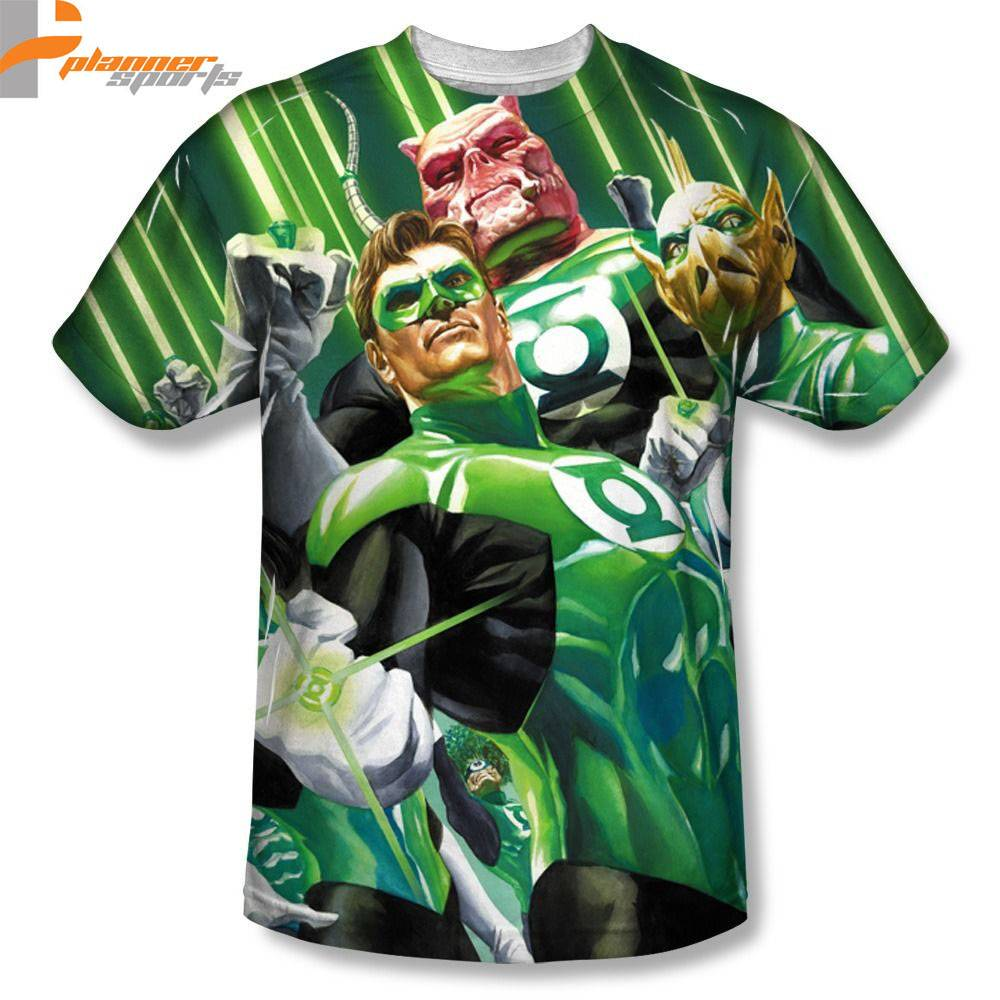 Green Lantern High Beams Planner Sports Sublimation Poly Adult Shirt S-3XL