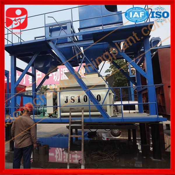 Hot sale JS1000 concrete mixer