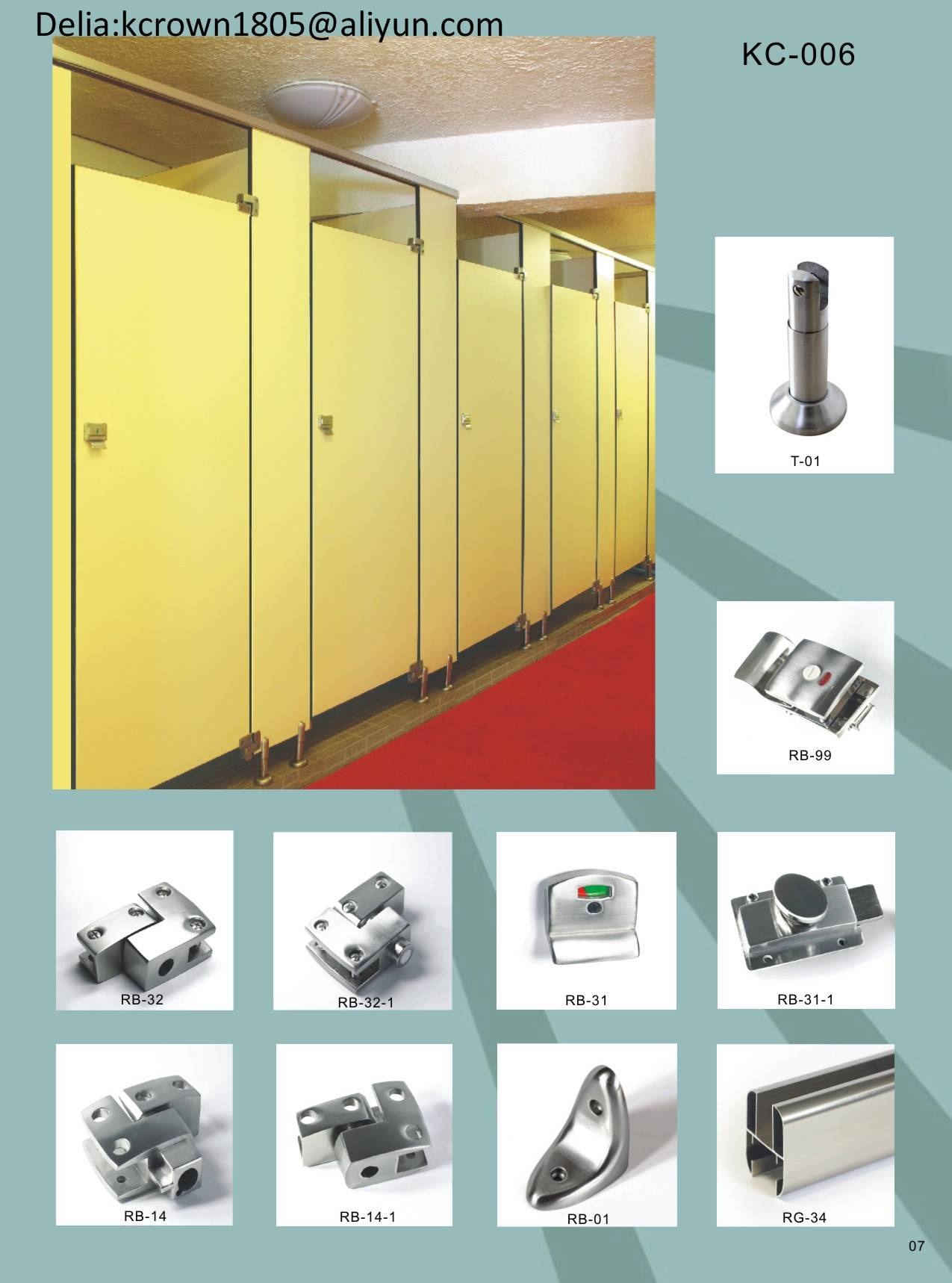toilet partition hardware zinc alloy
