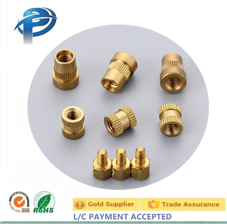 Hot sales precision Injection Plastic Copper Nut Knurled Insert