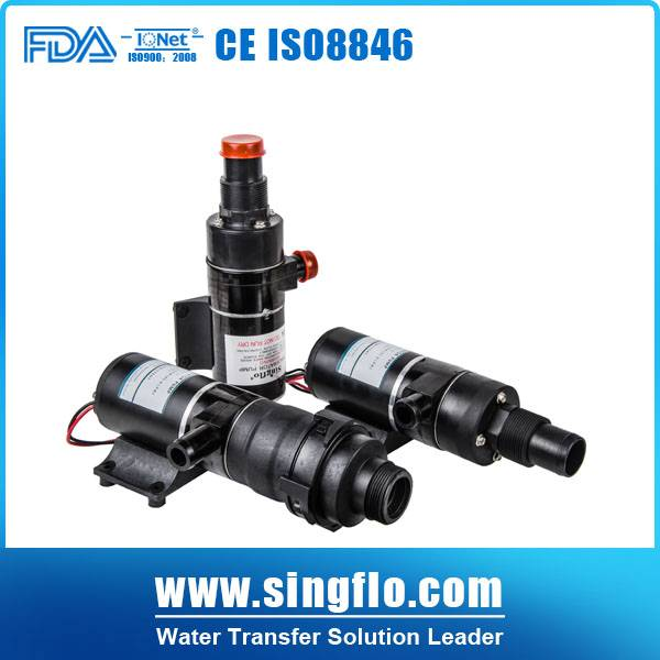 12v dc 49.2L/min non-clogged sewage submersible pump