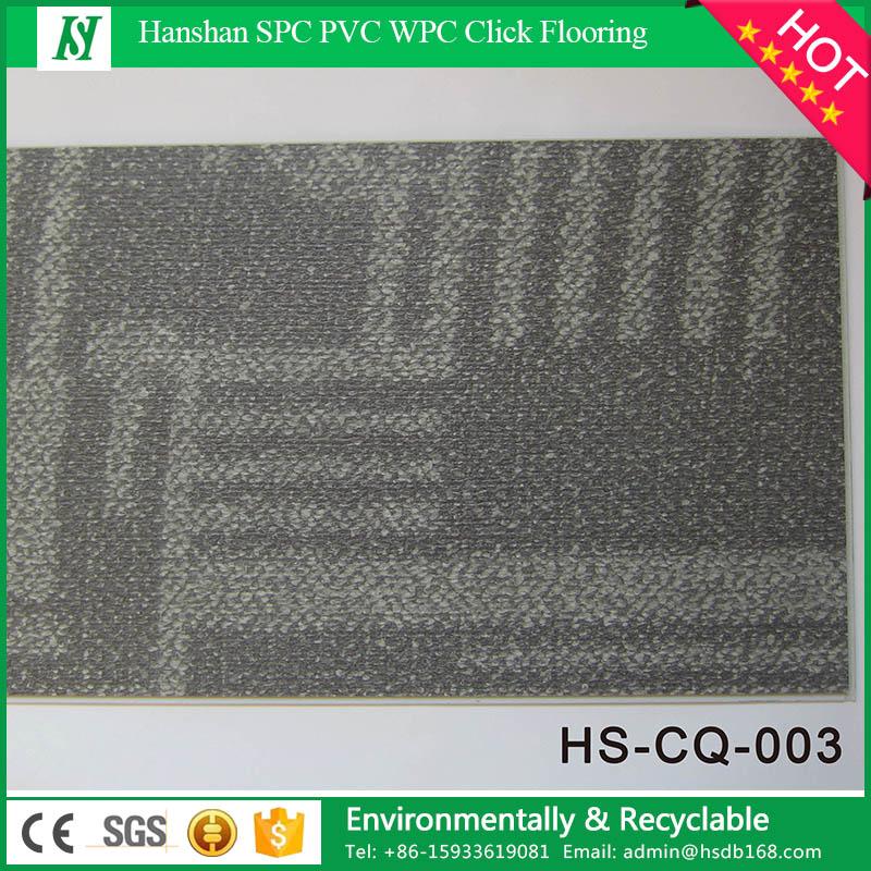 Dining room woven carpet flooring waterproof interlocking vinyl PVC flooring