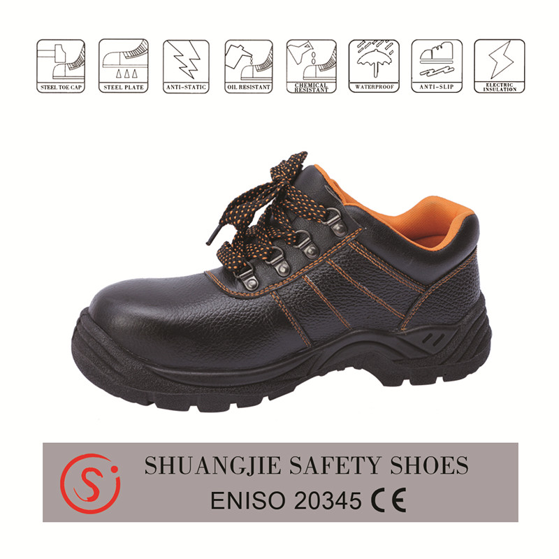 safety work shoes 9037 embossed leather pu outsole