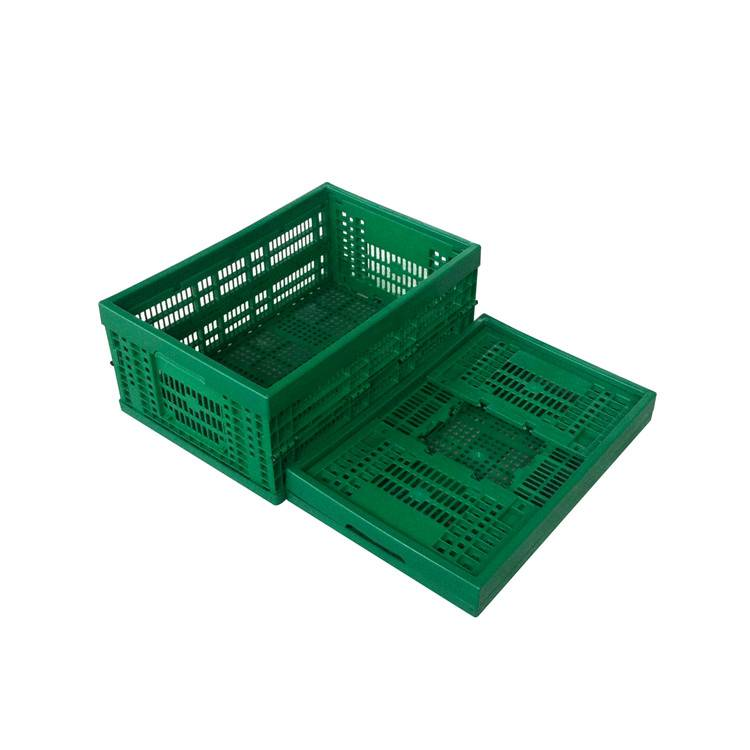 wholesale 600*400*240mm plastic material mesh type crate for fruits