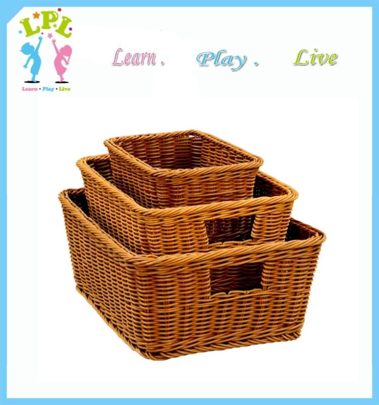 Wholesale machin-washable picnic basket /plastic laundry basket