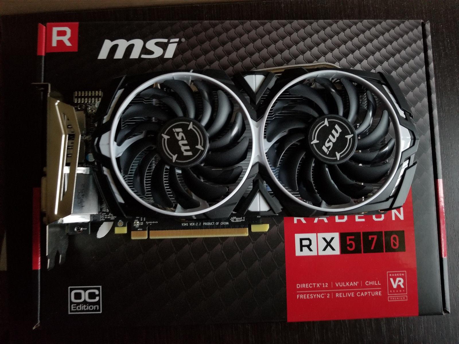 MSI Radeon RX 570 ARMOR 4G OC 4GB