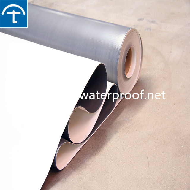 high quality reinforced and homogenouse TPO flat roofing waterproof membrane