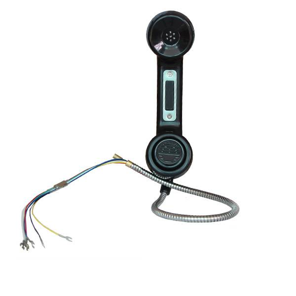 Industrial Wall mounted mining telephone headset, with ptt button