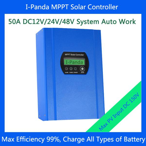 48V 50A MPPT Solar Charge Controller, 48V 50A solar pv regulator with Max Power Point Tracking (MPPT