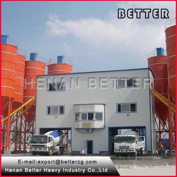 twin shaft mixer concrete batching plant 180m3/h