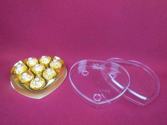 heart shaped chocolate plastic box with factory price