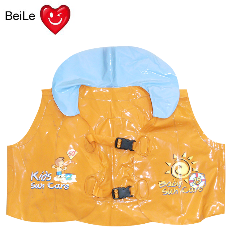 Customized PVC inflatable swim vest for kids