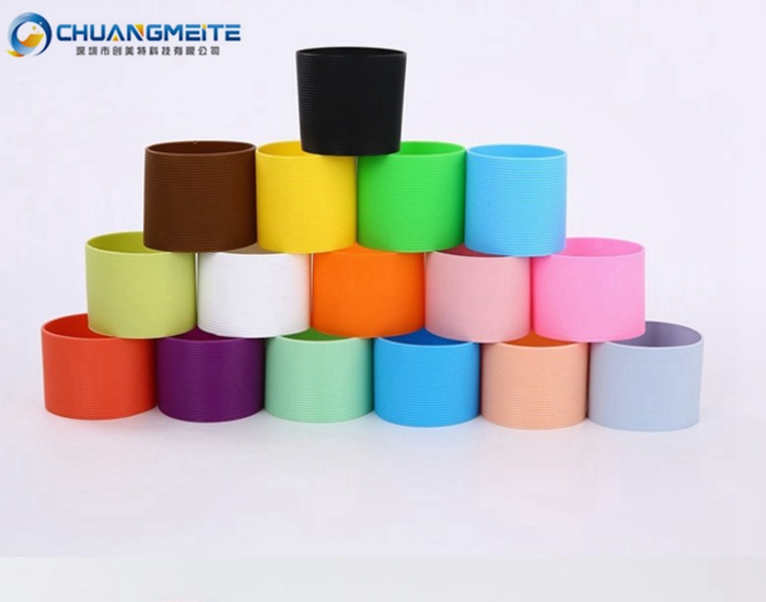 Eco-Friendly Fashion Anti-Slip Sleeve Silicone Insulated Bottle Cover