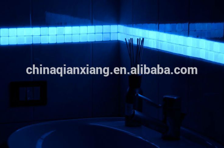 wholesale glow in the dark tiles fluorescent glass mosaic