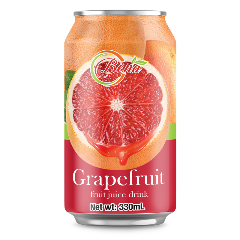 Fresh Juice 330ml Cans Grapefruit Fruit Juice from BENA beverage companies private brand
