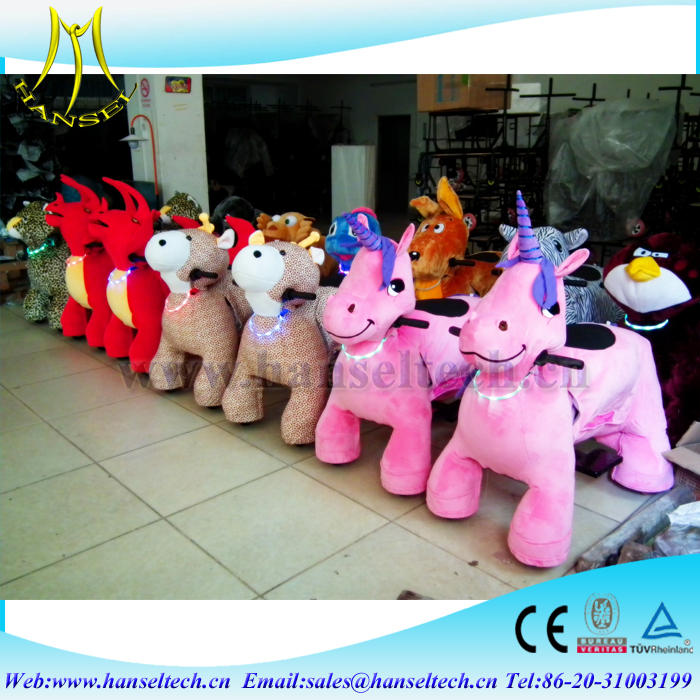 Hansel china amusement mall electric ride on animals