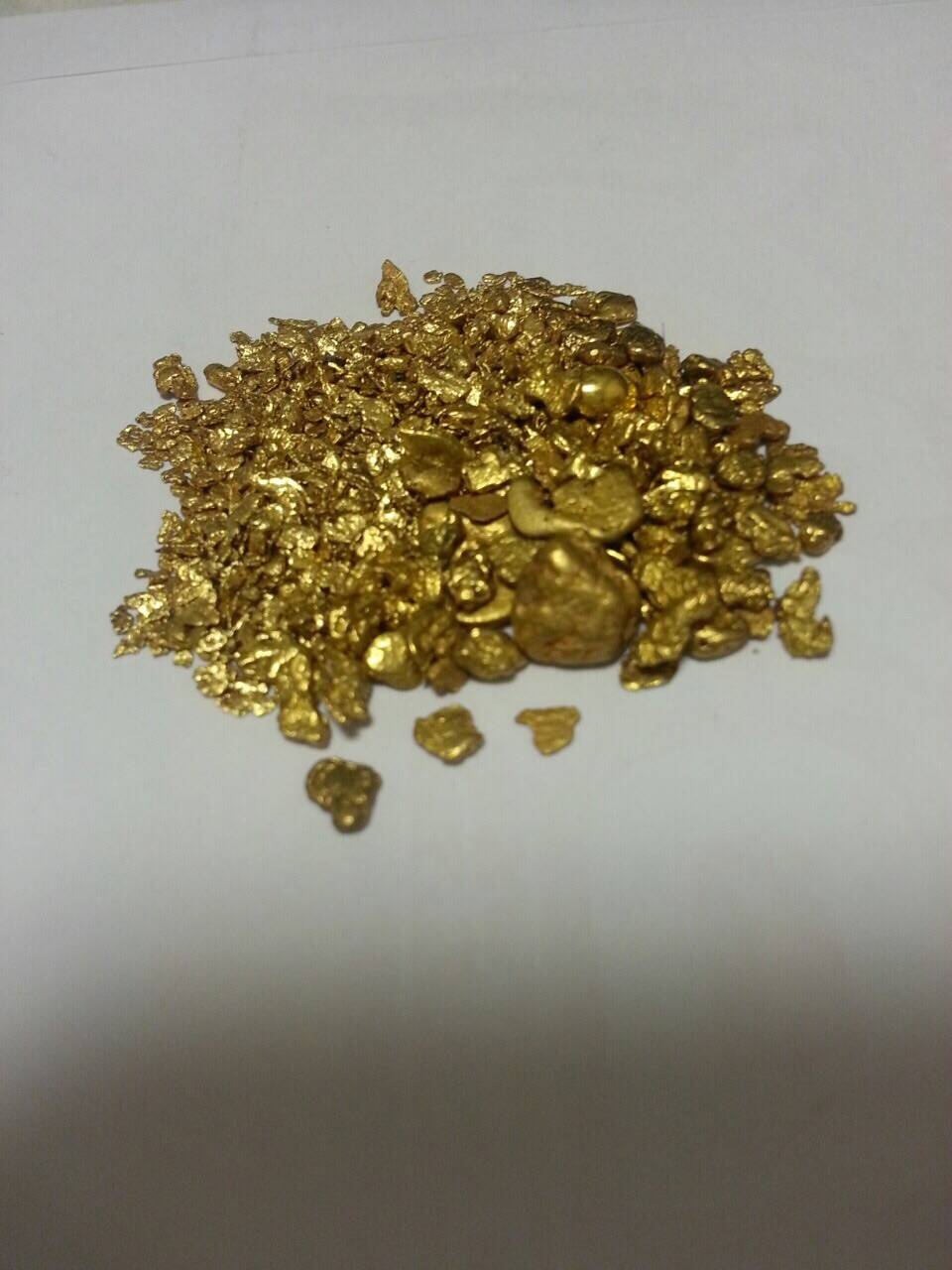Alluvial Gold Dust and Gold Bar