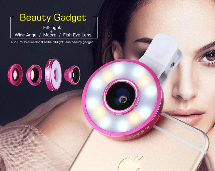 Clip fill-light phone lens