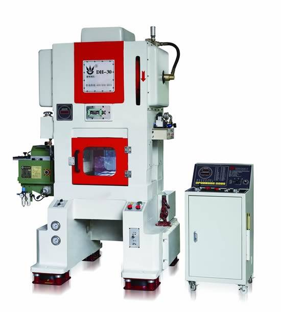 Gantry type one center column four circular guide pin high speed precision automatic punching machin