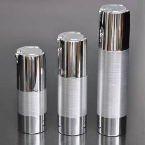 15g 30g 50g aluminium airless twist up pump bottle