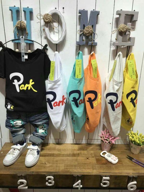 New Fashion Children Kids Wear OEM Stock Printed T shirt