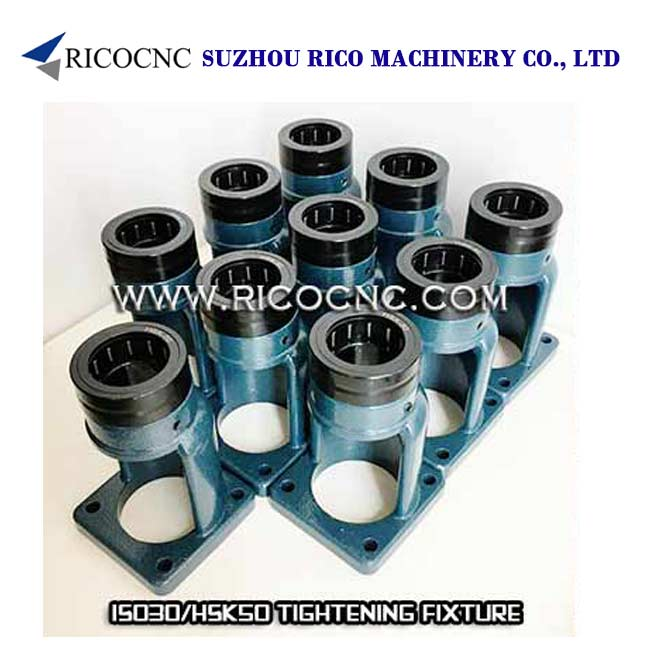 ISO30 Tool Holder Tightening Fixtures HSK50 Tool Holder Clamping Stand Roller Bearing Tool Lock Seat