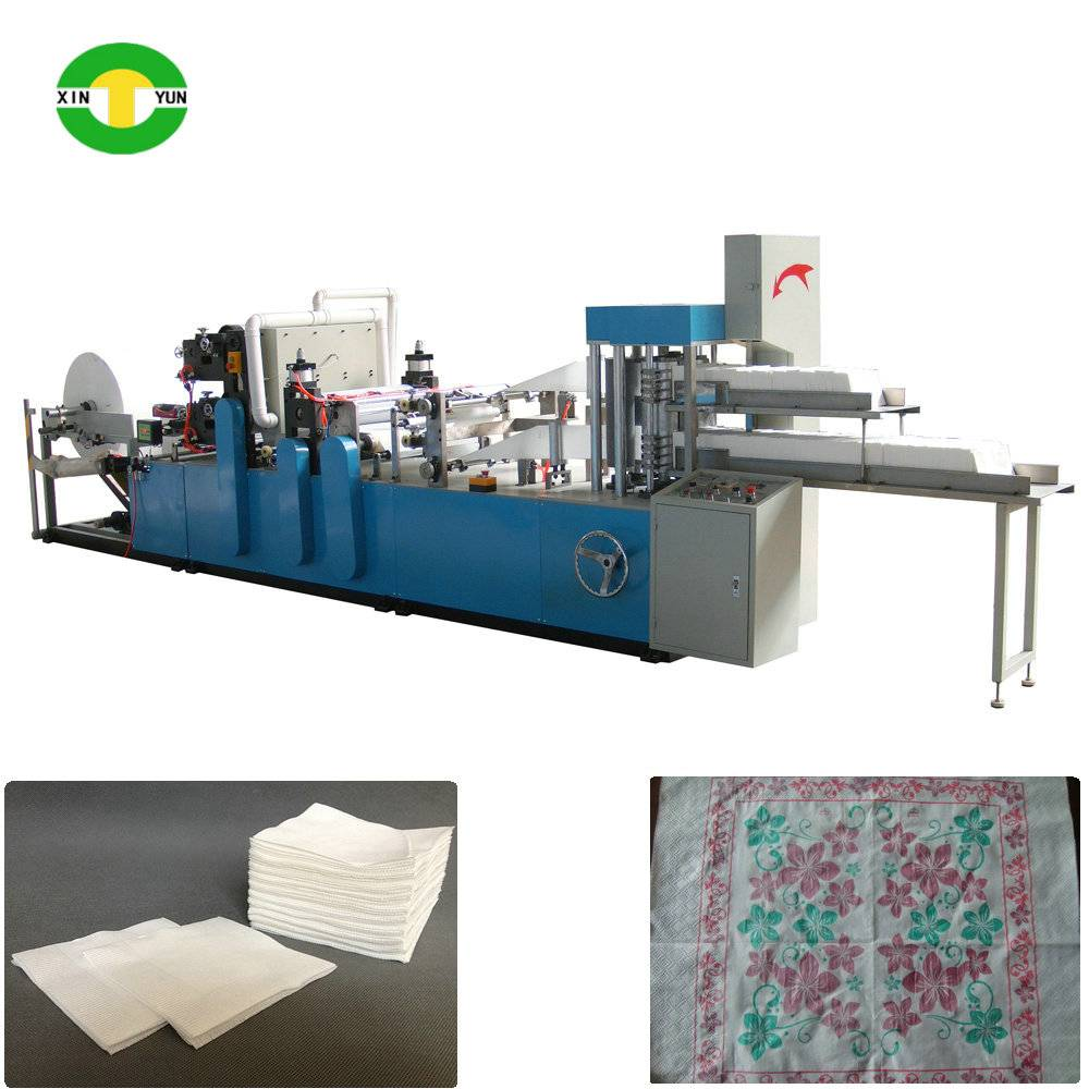 XY-OQ-7000K Double decks automatic tissue napkin paper folding machine