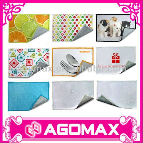 2014 Hot Promotional Double Sided microfiber towel cloth