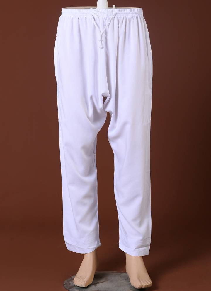 Traditional White Arab Pants for Men