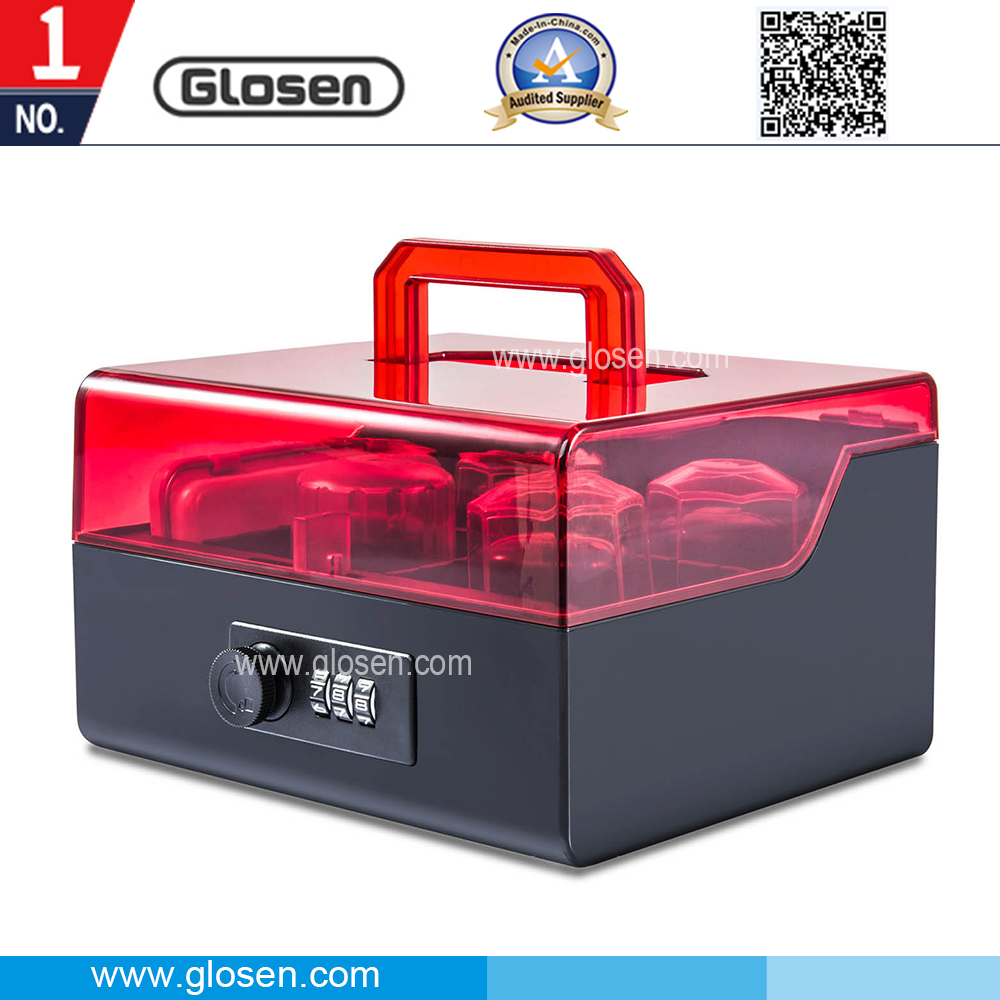 Glosen Acrylic Seal Box with Portable Handle and Number Locking B8056
