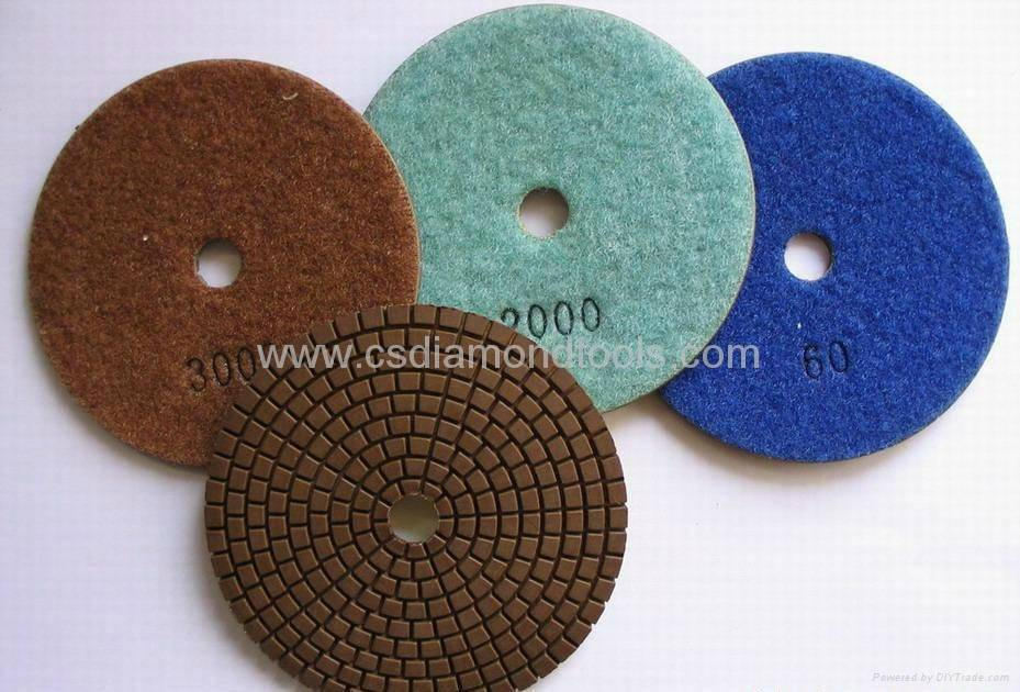 Diamond polishing pad as floor pad