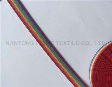 Rainbow webbing---Manufacturer woven elastic band buttonhole elastic hobby lobby