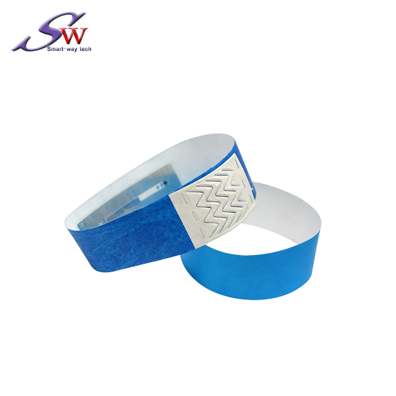 UHF H3 disposable paper rfid wristband for sport events marathons