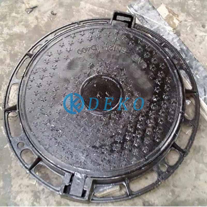 D400 frame size DIA730,CO DIA580 height 70mmRound Manhole Coversmanhole cover and grating