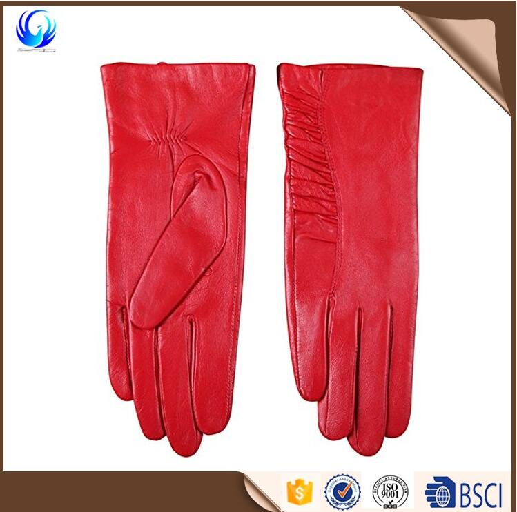 Winter Elegant Women Genuine Nappa Leather Gloves