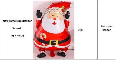 Christmas Helium Foil Mylar Balloons