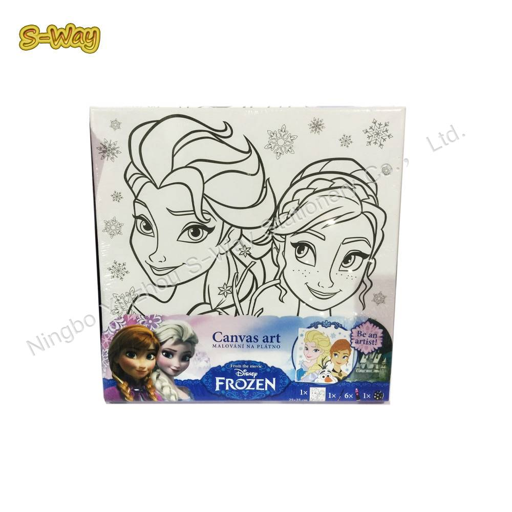 20CM*30CM Stretched Canvas set with frozen Design of Kids