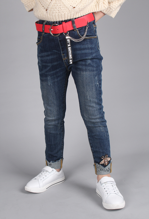 Elastic Jeans for Girls on Sale from China