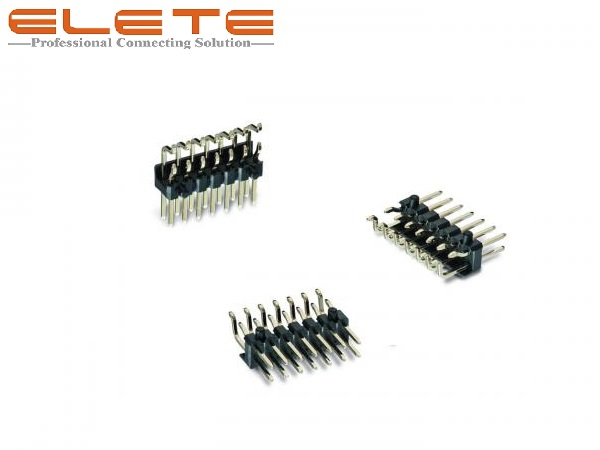 "2.54mm 0.100"" right angle SMT SMD Pin Header Connector"