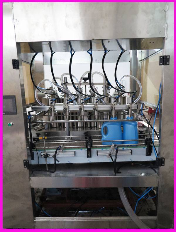 6 nozzles filling machine in stainless steel liquid cosmetic filling cheap price