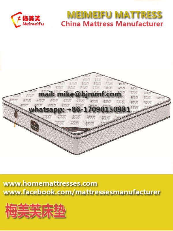 Compressed vacuum packed mattress memory foam mattress with pillow top