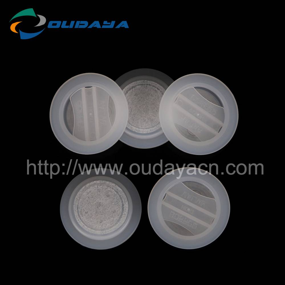 Degassing plastic coffee valve with film for coffee bean packing bag
