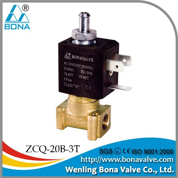 ZCQ-20B-3T coffee machine solenoid valve