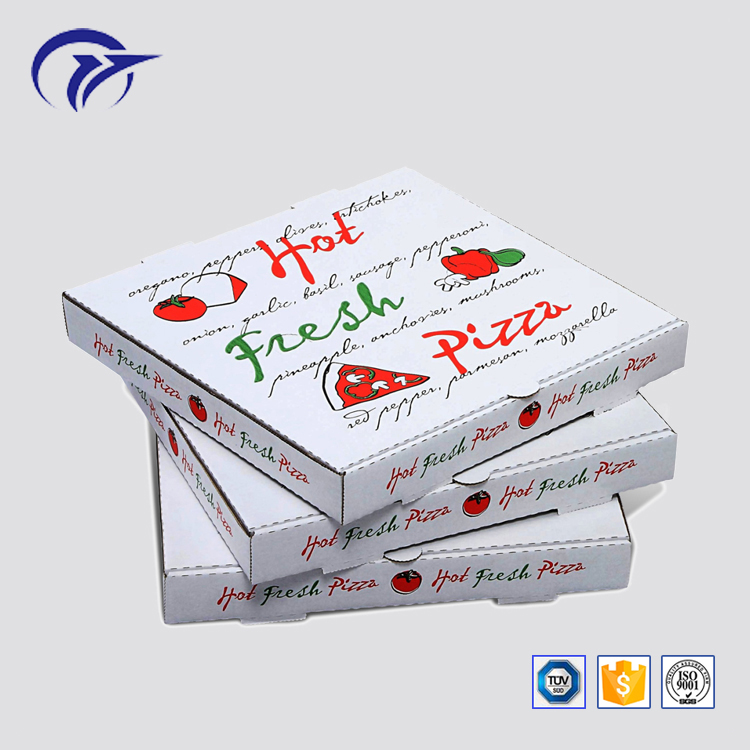 Hot sale customized printing food hamburger pizza packaging corrugated paper delivery gift box