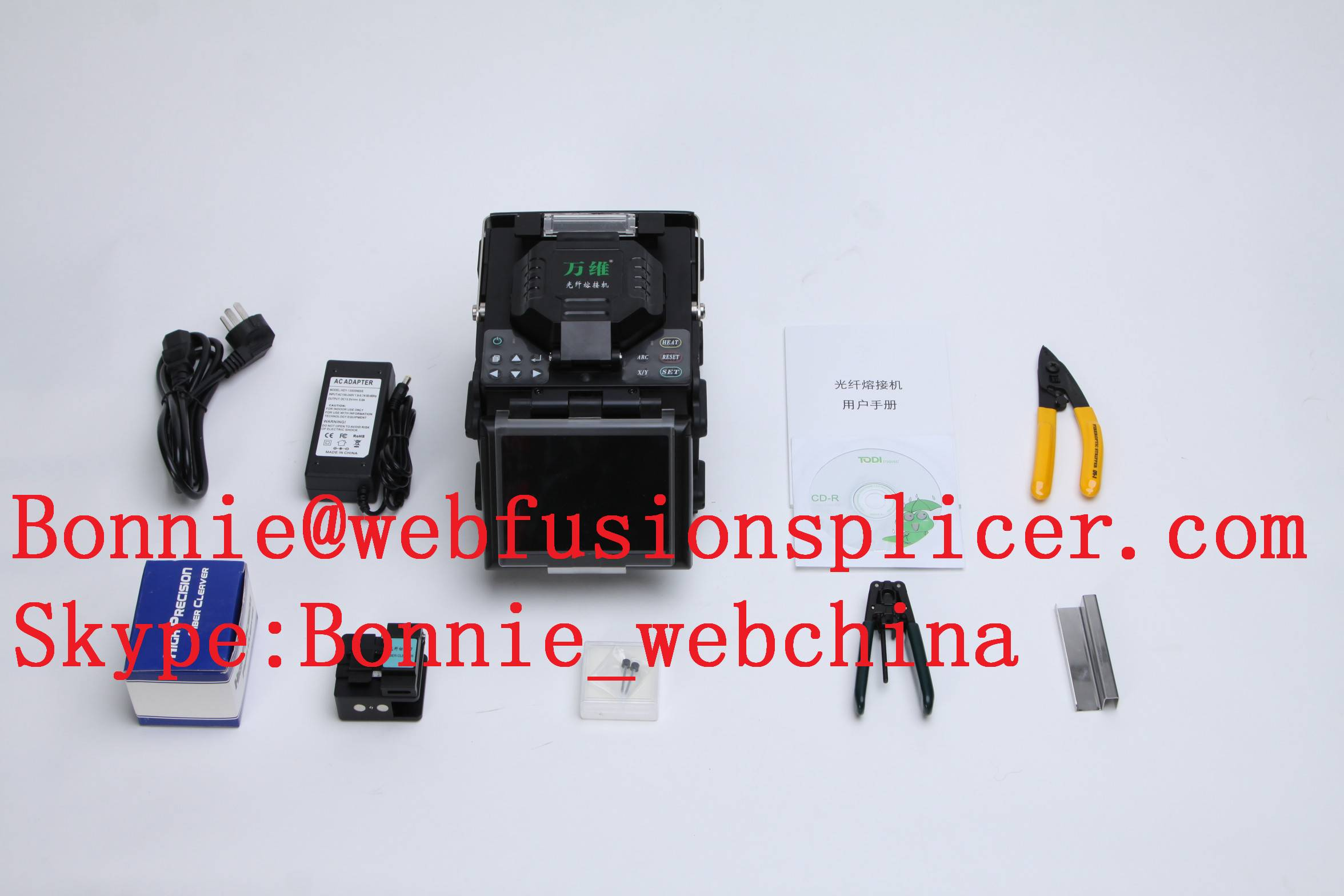 low price of easy operating fusion splicer english version competitive fiber optical welding machine