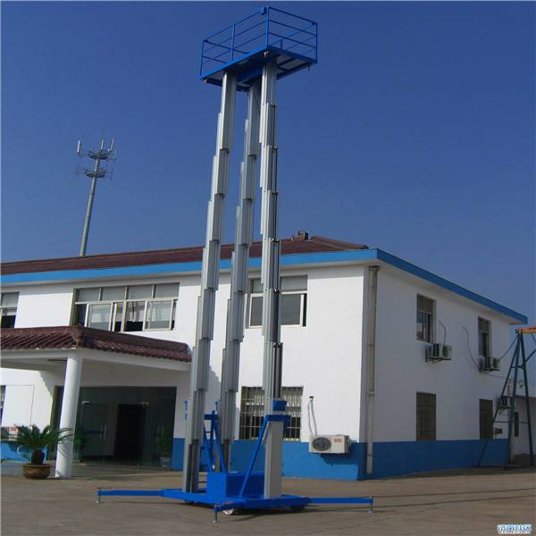 SJYL0.2-16 Three Mast Aluminium Alloy Mobile Lift Platform