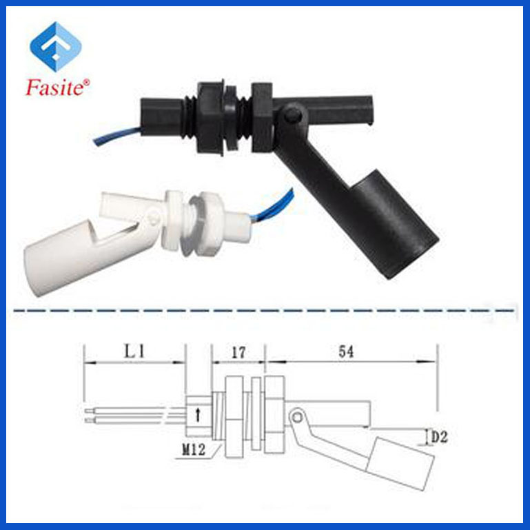 Fast Sensor Horizontal Installation magnetic side mounted float level switch Sensor