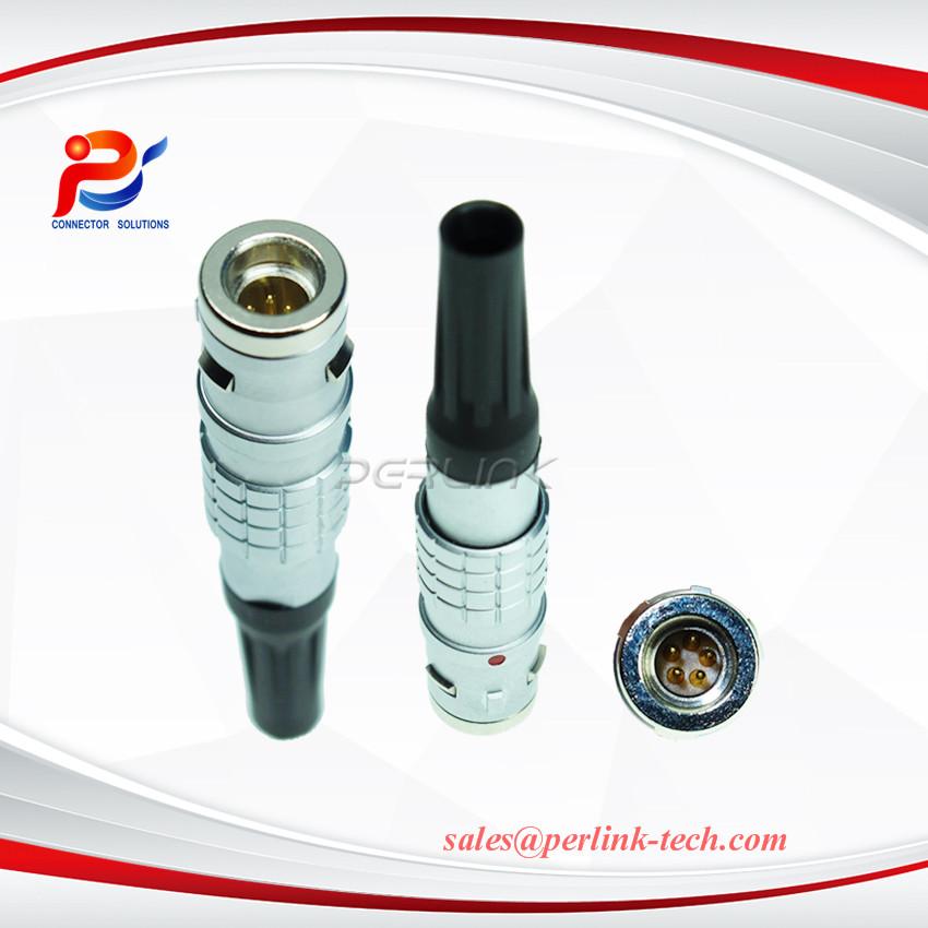 0K FGG 5 Pin Male Plug,Push Pull Metal Circular Cable Connector (5Pin, Plug)