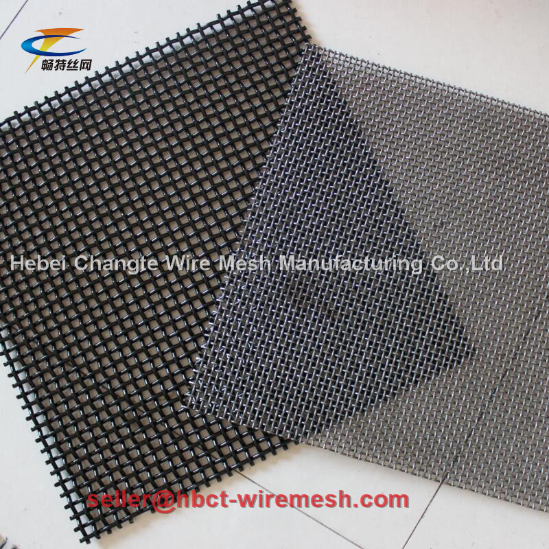 Square Crimped Woven Wire Mesh Medium Carbon Steel For Sieve Quarry
