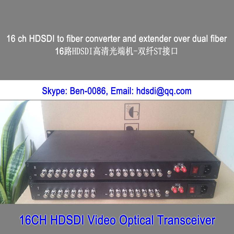 16ch 3G/HD/SD SDI to fiber optic converter
